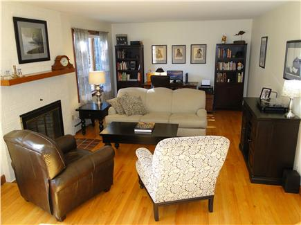 Pocasset Pocasset vacation rental - Sunny front living room with fireplace