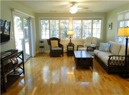 Pocasset Pocasset vacation rental - Our favorite room – the sun room with slider to deck