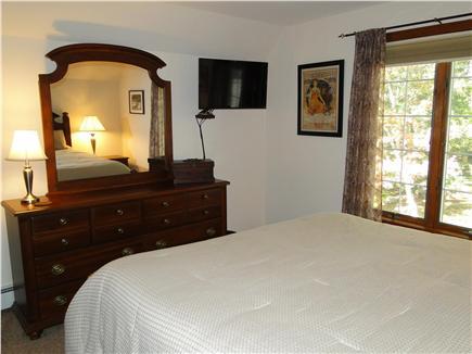 Pocasset Pocasset vacation rental - Upstairs Queen bedroom with flat screen TV