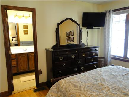 Pocasset Pocasset vacation rental - Master bedroom with flat screen, private full bath