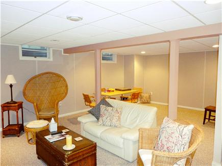 Brewster Cape Cod vacation rental - Finished basement with flat screened TV and games