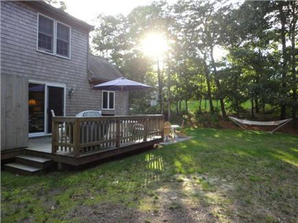 Brewster Cape Cod vacation rental - Private back yard with deck, gas grill and outdoor shower