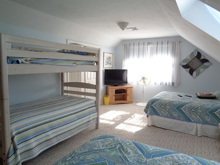 Eastham Cape Cod vacation rental - Upstairs Bedroom with 2 Queen beds and a bunk set