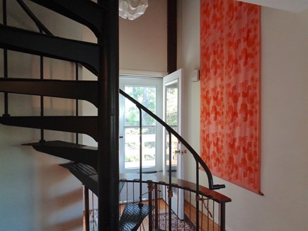 Wellfleet Cape Cod vacation rental - Spiral staircase reaches all levels
