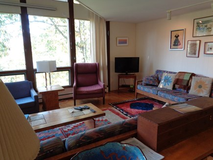 Wellfleet Cape Cod vacation rental - Mid level living room