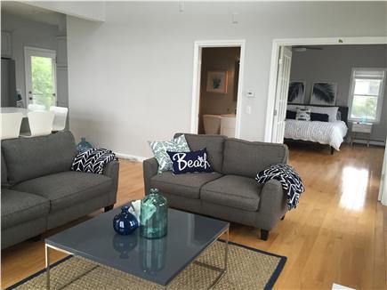 Dennisport Cape Cod vacation rental - Living room into kitchen/half bath/master