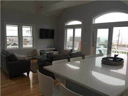 Dennisport Cape Cod vacation rental - Ocean views from window -  17' x 25' LR/Kitchen