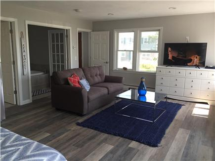 Dennisport Cape Cod vacation rental - 14' x 23' suite w/ kitchenette, sleep sofa, private bath, deck