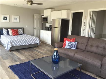 Dennisport Cape Cod vacation rental - 14' x 23' suite w/ kitchenette, sleep sofa, private bath, deck