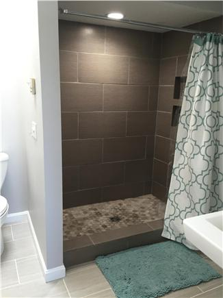 Dennisport Cape Cod vacation rental - Master bath custom tiled shower