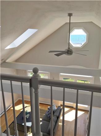 Dennisport Cape Cod vacation rental - Loft view of ocean and living room/kitchen