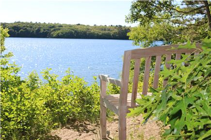 Brewster Cape Cod vacation rental - Short walk to our private beach on Sheep Pond.