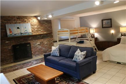 Brewster Cape Cod vacation rental - Lower level room with twin over full bunk bed and a full size bed