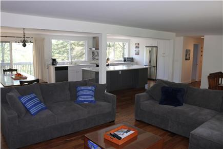 Brewster Cape Cod vacation rental - Modern open kitchen over looking Long Pond.