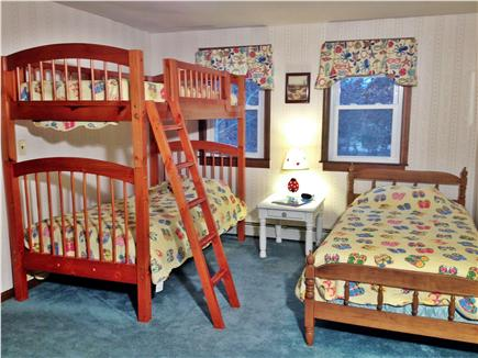 Eastham Cape Cod vacation rental - Upstairs bedroom with bunk, twin, and full