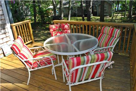 Dennis Cape Cod vacation rental - Enjoy Your Morning Coffee, Lunch, Or BBQ,  outside on the deck.