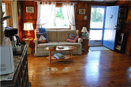 Dennis Cape Cod vacation rental - Inviting Living Area Features Pull Out Sleeper Sofa.