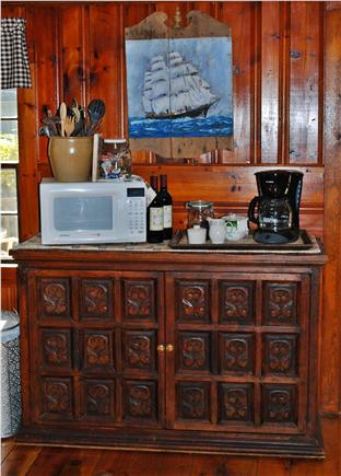 Dennis Cape Cod vacation rental - Cottage Includes Coffee Pot and Microwave.