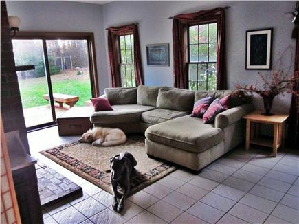 East Orleans Cape Cod vacation rental - Family room with slider to deck