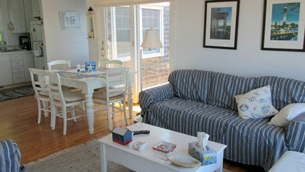 Eastham Cape Cod vacation rental - Living Room to Dining Area