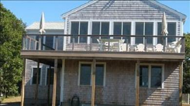 Eastham Cape Cod vacation rental - Back Deck with view of Cape Cod Bay