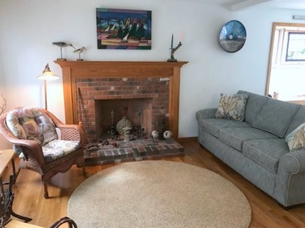 Eastham Cape Cod vacation rental - Living Room - Fireplace