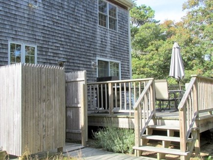 Eastham Cape Cod vacation rental - Back deck and outside shower