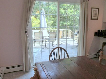 Eastham Cape Cod vacation rental - Dining area looking to deck
