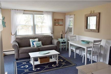 Barnstable, Coast of Hyannis Cape Cod vacation rental - The Living room has a pull out couch that sleeps two.
