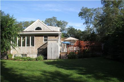 Eastham Cape Cod vacation rental - Side yard, including outdoor shower and deck