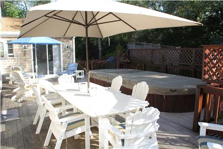 Eastham Cape Cod vacation rental - ''The Deck'' with a current pool/hot tub spa