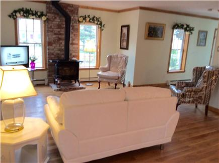 Barnstable Cape Cod vacation rental - Bright living area with wide flat screen TV