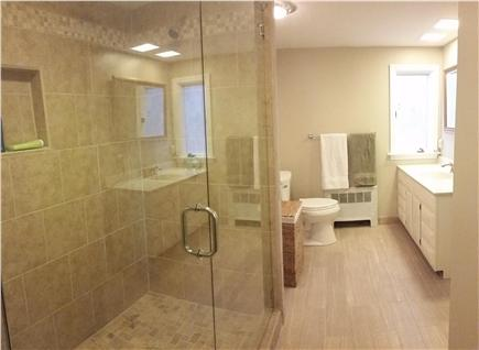 Pleasant Lake Harwich Cape Cod vacation rental - Brand NEW en-suite, 7-ft custom shower with dual shower heads