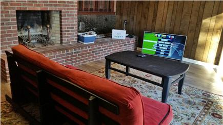 Pleasant Lake Harwich Cape Cod vacation rental - Play zone w/ TV, Ping-Pong, Air Hockey, Foosball and Wii