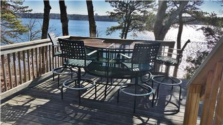 Pleasant Lake Harwich Cape Cod vacation rental - Happy Hour Deck overlooking your private Long Pond beach