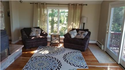 Pleasant Lake Harwich Cape Cod vacation rental - Comfy Living room sitting area with views of Long Pond