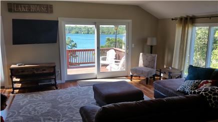 Pleasant Lake Harwich Cape Cod vacation rental - One of the lake views from the Living Room
