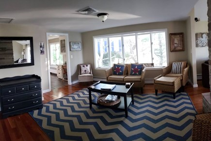 Pleasant Lake Harwich Cape Cod vacation rental - Sitting area btwn kitchen and living room, views of Long Pond