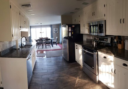 Pleasant Lake Harwich Cape Cod vacation rental - Ceramic tile, stainless appliances and granite countertop kitchen