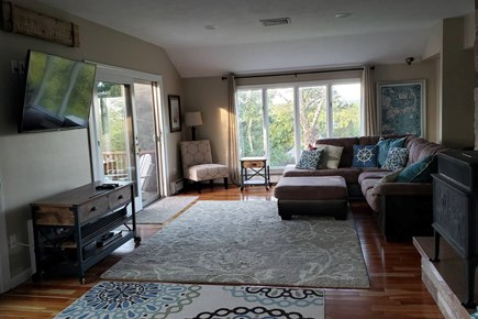 Pleasant Lake Harwich Cape Cod vacation rental - Huge Living Room, sliders to deck surrounded by water views