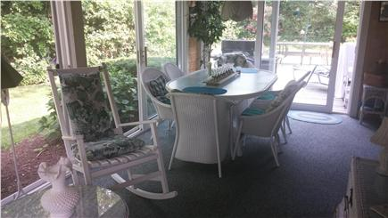 Dennis Cape Cod vacation rental - Dine out in the bright lit sun room