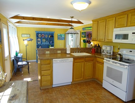 Eastham Cape Cod vacation rental - House kitchen area with breakfast bar