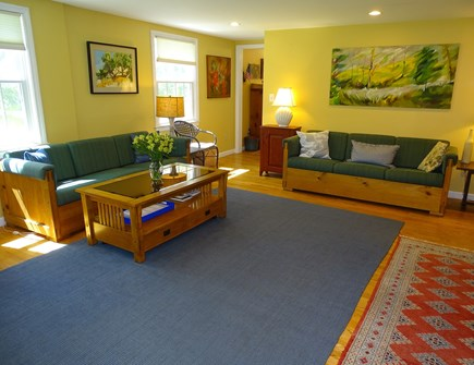 Eastham Cape Cod vacation rental - Living room, doorway to kitchen