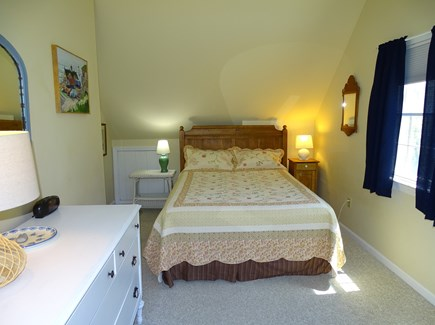 Eastham Cape Cod vacation rental - House, upstairs queen bedroom with ceiling fan, TV