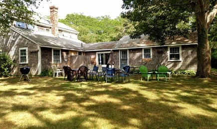 Eastham Cape Cod vacation rental - Spacious backyard for dining and relaxing