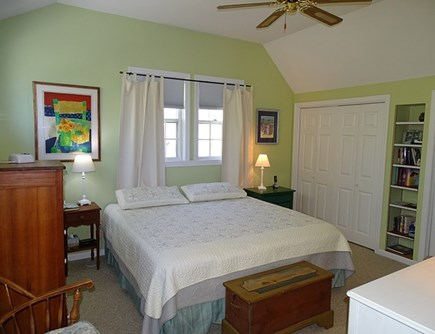 Eastham Cape Cod vacation rental - House, master bedroom upstairs with King bed, TV