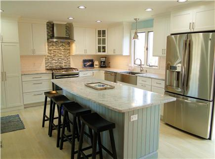 Harwich Cape Cod vacation rental - New kitchen with stainless steel appliances, breakfast bar