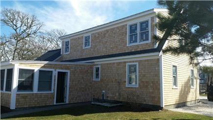 Harwichport Cape Cod vacation rental - Back of house and one of three yards