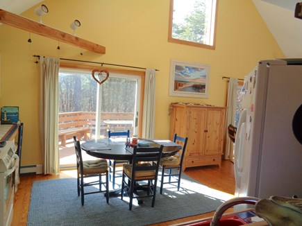 Wellfleet Cape Cod vacation rental - Bright & Sunny Kitchen With Sliders To Deck