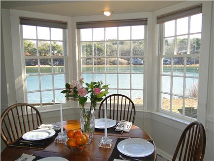 Chatham Cape Cod vacation rental - Dining area by bay window, facing water